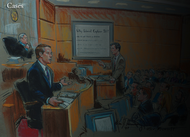 Microsoft trial courtroom